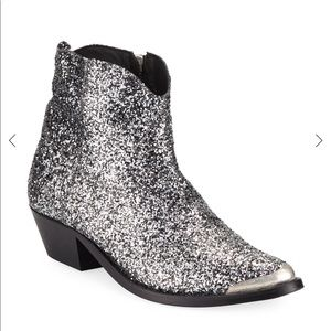 Golden Goose Young Western Boot Glitter Fabric